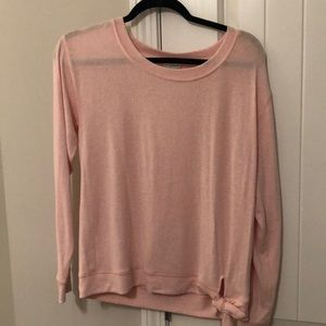 J. Crew Pink Side-Tie Sweater